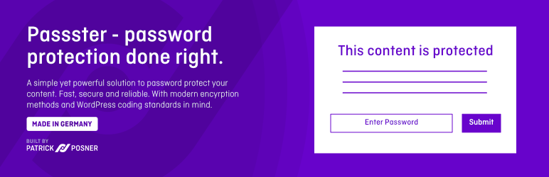 Passster – Password Protection