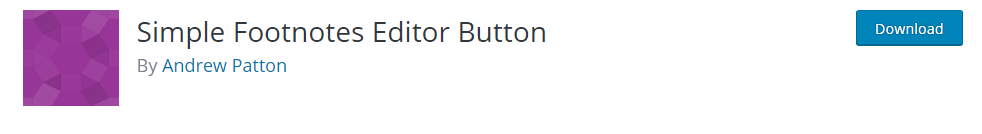 Simple Footnotes Editor Button
