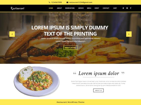 https://wordpress.org/themes/vw-restaurant-lite/
