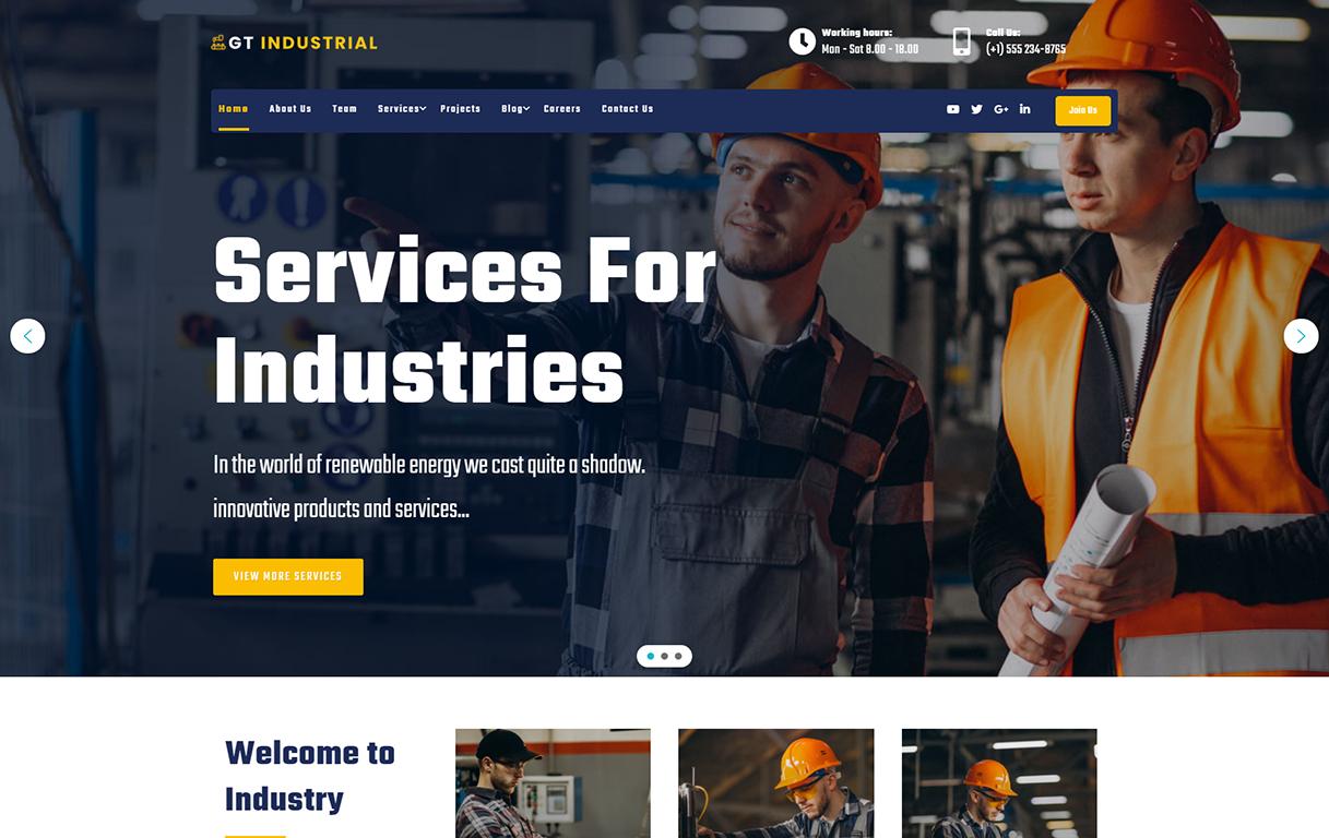 gt-industrial-free-wordpress-theme