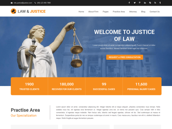 Top 20 Strong WordPress Law Theme In 2021