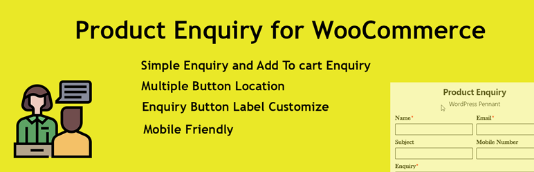 product enquiry for woocommerce plugin