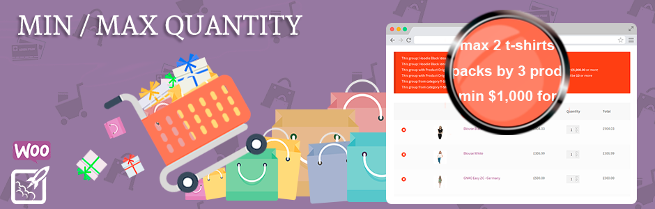 Min and Max Quantity for WooCommerce