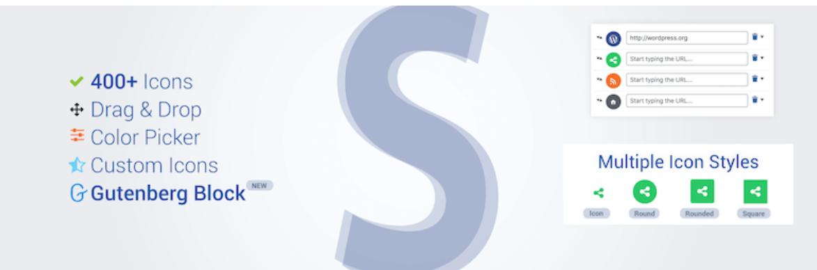 Social Icons Widget & Block by WPZOOM