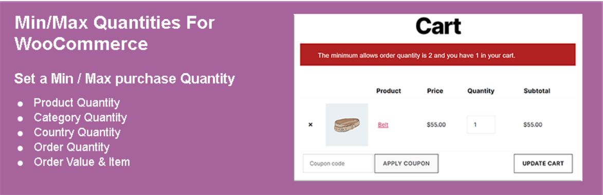 Minimum and Maximum Quantity for WooCommerce