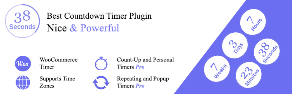 Countdown and count up, WooCommerce Sales Timer