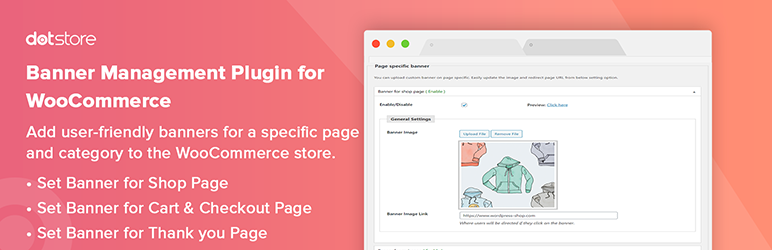 Woocommerce Category Banner Management
