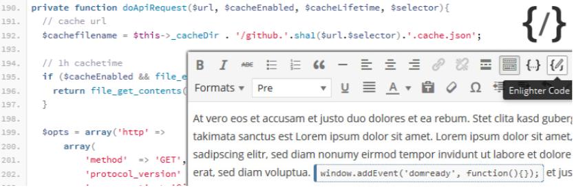 Enlighter – Customizable Syntax Highlighter