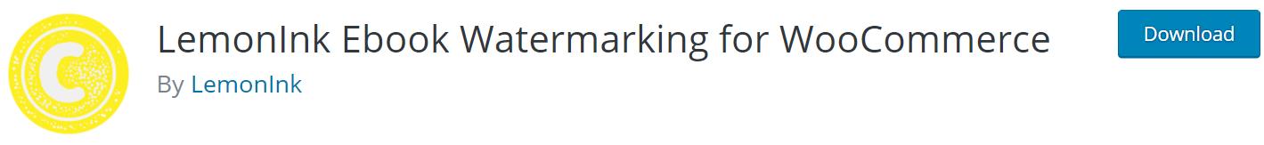 LemonInk Ebook Watermarking for WooCommerce